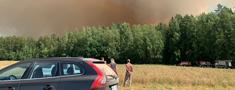 Lēdurgas mednieku klubs dodas dzēst meža ugunsgrēku